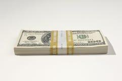 Pila di valuta degli Stati Uniti Fotografia Stock Libera da Diritti
