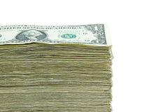 Pila di valuta di carta degli Stati Uniti Immagine Stock