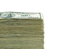 Pila di valuta di carta degli Stati Uniti Immagini Stock Libere da Diritti