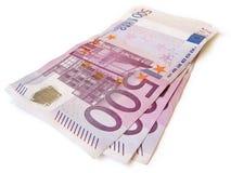 Pila di valuta di EUR isolata Fotografia Stock Libera da Diritti