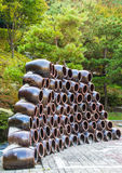 Pila di vasi Fotografie Stock