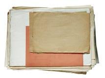 Pila di vecchi documenti Immagini Stock