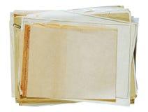 Pila di vecchi documenti Fotografia Stock Libera da Diritti