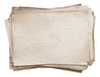 Pila di vecchi documenti Immagine Stock