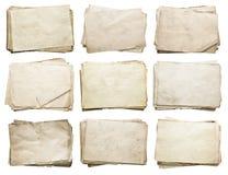 Pila di vecchi documenti impostati Fotografia Stock Libera da Diritti