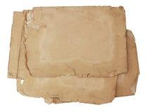 Pila di vecchi documenti isolati Fotografia Stock Libera da Diritti