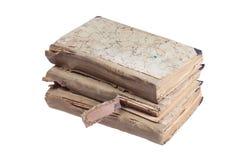 Pila di vecchi libri antichi Immagine Stock