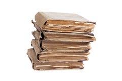 Pila di vecchi libri antichi Fotografie Stock Libere da Diritti