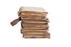 Pila di vecchi libri antichi Fotografia Stock Libera da Diritti