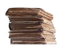 Pila di vecchi libri antichi Fotografia Stock