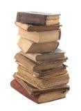 Pila di vecchi libri con il percorso di residuo della potatura meccanica Fotografia Stock