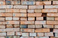 Pila di vecchi mattoni rossi Immagine Stock