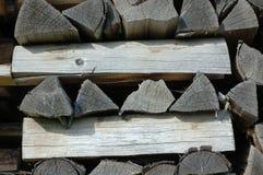 Pila di vecchia legna da ardere Fotografia Stock Libera da Diritti