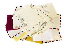 Pila di vecchia lettera Fotografie Stock
