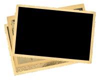 Pila di vecchie foto, spazio della copia libera Immagini Stock