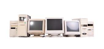 Pila di vecchio computer Fotografia Stock