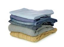 Pila di vestiti Fotografie Stock