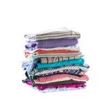 Pila di vestiti piegati Fotografia Stock Libera da Diritti