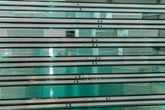 Pila di vetro di finestra temperato fotografie stock
