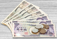 Pila di Yen giapponesi di valuta Fotografia Stock Libera da Diritti
