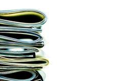 Pila doblada de papeles del negocio, legales o del seguro imagen de archivo libre de regalías