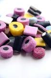 Pila dulce del caramelo del regaliz Imágenes de archivo libres de regalías