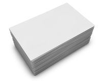 Pila en blanco de las tarjetas de visita Imagen de archivo libre de regalías