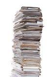 Pila enorme de papeles Imagen de archivo