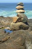 Pila equilibrata della roccia Fotografia Stock