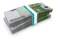 Pila euro Fotos de archivo libres de regalías