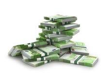 Pila euro de las cuentas Foto de archivo libre de regalías