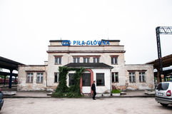 Pila Głowna railway station in poland Royalty Free Stock Photography