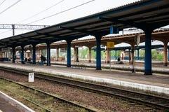 Pila Głowna火车站在波兰 免版税图库摄影