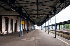 Pila Głowna火车站在波兰 图库摄影