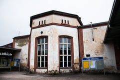Pila Głowna火车站在波兰 库存图片
