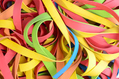 Tiras de goma vibrantes Fotografía de archivo
