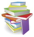 Pila grande de la ilustración de libros stock de ilustración