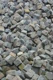 Pila grande de la piedra del adoquín Imagen de archivo libre de regalías