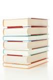 Pila grande de libros de la biblioteca. foto de archivo libre de regalías