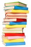 Pila grande de libros en ensenada dura Imagen de archivo libre de regalías