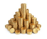 Pila grande de monedas. icono 3D   ilustración del vector