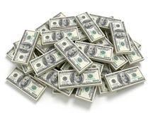 Pila grande del dinero Foto de archivo libre de regalías