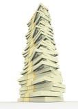 Pila grande del dinero de los dólares los E.E.U.U. Conceptos de las finanzas Foto de archivo libre de regalías