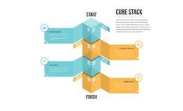 Pila Infographic del cubo Immagini Stock