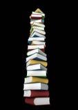 Pila isolata di libri Fotografia Stock Libera da Diritti