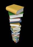 Pila isolata di libri Fotografia Stock