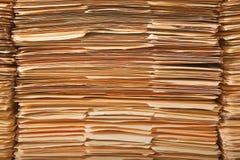 Pila legal del fichero Imagen de archivo