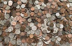 Pila masiva de monedas Fotografía de archivo