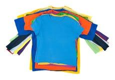 Pila multicolora de la ropa Imagen de archivo libre de regalías