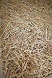 Pila naturale del fieno di struttura del fondo Fotografia Stock